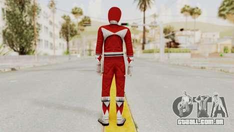 Mighty Morphin Power Rangers - Red para GTA San Andreas terceira tela