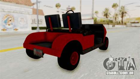 GTA 5 Gambler Caddy Golf Cart para GTA San Andreas esquerda vista