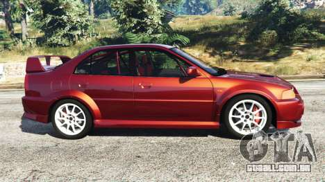 GTA 5 Mitsubishi Lancer GSR Evolution VI 1999 vista lateral esquerda
