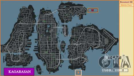 Kagarasan Pista para GTA 4 sexto tela