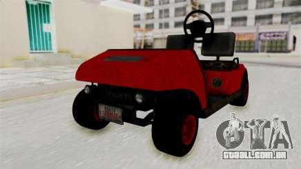 GTA 5 Gambler Caddy Golf Cart para GTA San Andreas