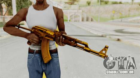 AK-47S Gold para GTA San Andreas terceira tela