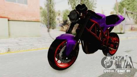 Ducati 1098 Nakedbike para GTA San Andreas vista direita