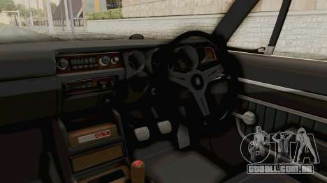 Nissan Skyline KPGC10 1971 para GTA San Andreas vista interior