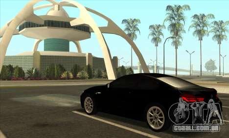 BMW M6 F13 Coupe para vista lateral GTA San Andreas