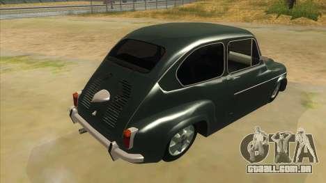 Fiat 600 para GTA San Andreas vista direita