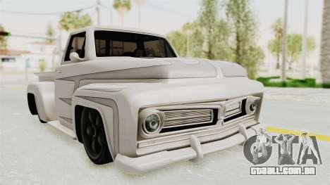 GTA 5 Slamvan Stock PJ1 para GTA San Andreas vista traseira