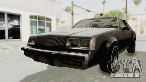 Buick Regal 1986 para GTA San Andreas vista direita