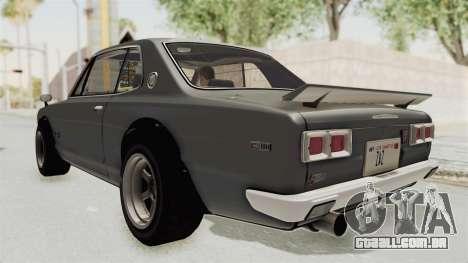 Nissan Skyline KPGC10 1971 para GTA San Andreas esquerda vista