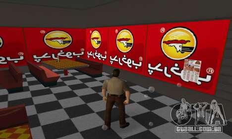 Pizza Shop Iranian V2 para GTA Vice City por diante tela