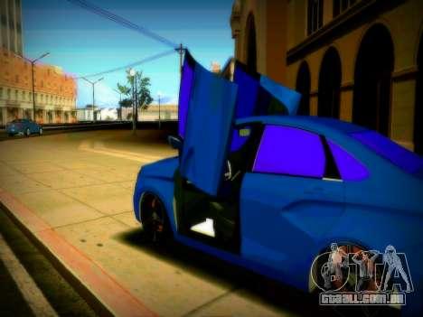 Lada Vesta Lambo para GTA San Andreas vista traseira