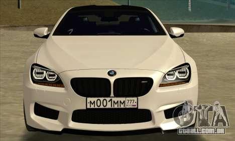BMW M6 F13 Coupe para GTA San Andreas traseira esquerda vista