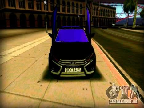 Lada Vesta Lambo para GTA San Andreas esquerda vista