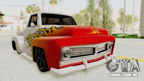 GTA 5 Slamvan Stock PJ1 para vista lateral GTA San Andreas