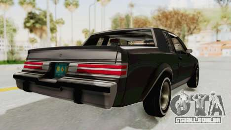 Buick Regal 1986 para GTA San Andreas esquerda vista