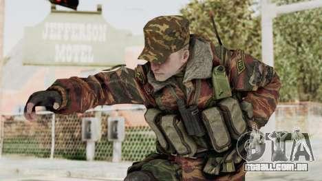 Battery Online Russian Soldier 10 v1 para GTA San Andreas