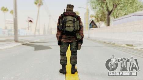Battery Online Russian Soldier 10 v1 para GTA San Andreas terceira tela