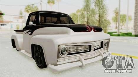 GTA 5 Slamvan Stock PJ1 para GTA San Andreas traseira esquerda vista