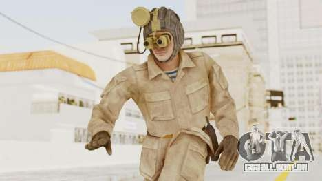 MGSV The Phantom Pain Soviet Union Radioman NVG para GTA San Andreas