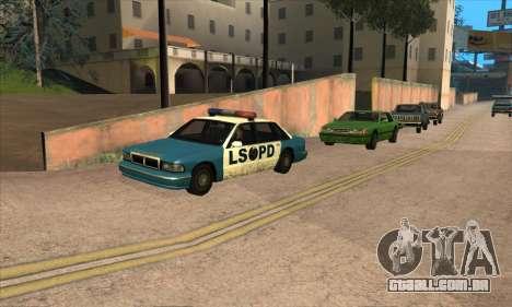Atualizado tráfego para GTA San Andreas por diante tela