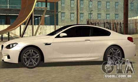 BMW M6 F13 Coupe para GTA San Andreas vista direita