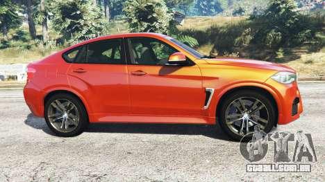 GTA 5 BMW X6 M (F16) v1.6 vista lateral esquerda