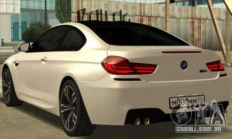 BMW M6 F13 Coupe para GTA San Andreas esquerda vista