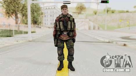 Battery Online Russian Soldier 10 v1 para GTA San Andreas segunda tela