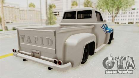 GTA 5 Slamvan Stock PJ1 para GTA San Andreas esquerda vista