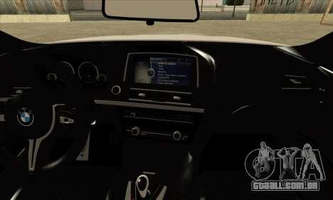 BMW M6 F13 Coupe para GTA San Andreas vista traseira