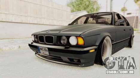 BMW M5 E34 USA para GTA San Andreas vista direita