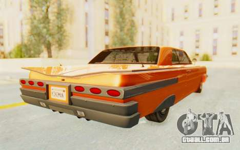GTA 5 Declasse Voodoo Alternative v1 PJ para GTA San Andreas traseira esquerda vista
