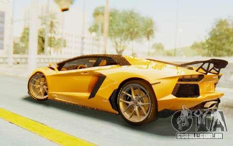 Lamborghini Aventador LP700-4 DMC para GTA San Andreas traseira esquerda vista