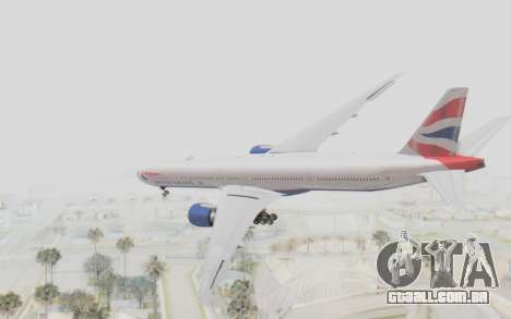 Boeing 777-300ER British Airways para GTA San Andreas esquerda vista