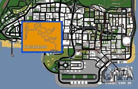 Kagarasan Pista para GTA San Andreas sétima tela