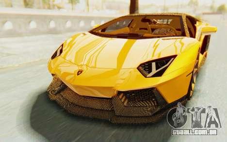 Lamborghini Aventador LP700-4 DMC para vista lateral GTA San Andreas