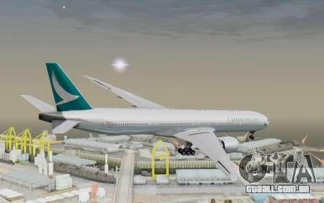 Boeing 777-300ER Cathay Pacific Airways v3 para GTA San Andreas vista direita