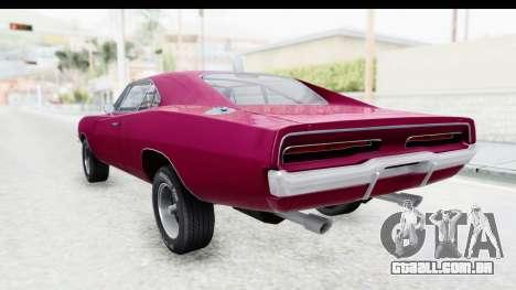 Dodge Charger 1969 Racing para GTA San Andreas esquerda vista