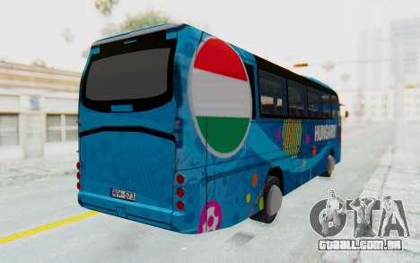 Neoplan Euro 2016 Hungarian Bus para GTA San Andreas traseira esquerda vista