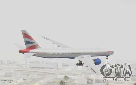 Boeing 777-300ER British Airways para GTA San Andreas vista direita