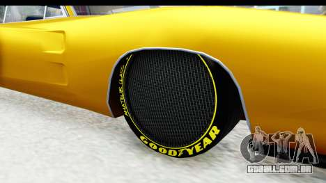 Dodge Charger 1969 Max Speed para GTA San Andreas vista traseira