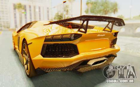 Lamborghini Aventador LP700-4 DMC para GTA San Andreas vista inferior