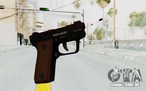 GTA 5 Shrewsbury SNS Pistol para GTA San Andreas segunda tela