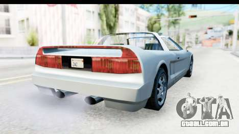 New Infernus para GTA San Andreas vista direita