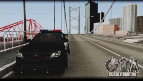 Subaru Impreza WRX STi Police Drift para GTA San Andreas traseira esquerda vista