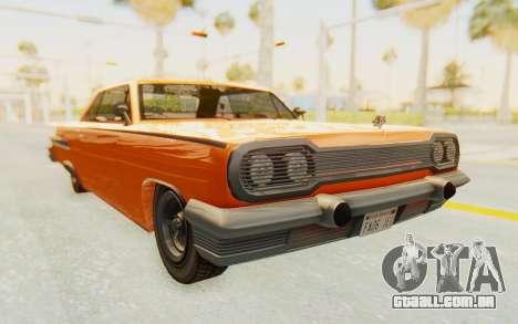 GTA 5 Declasse Voodoo Alternative v1 PJ para GTA San Andreas vista direita