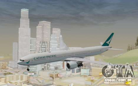 Boeing 777-300ER Cathay Pacific Airways v3 para GTA San Andreas