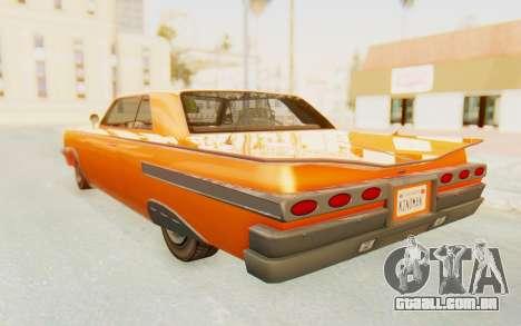 GTA 5 Declasse Voodoo Alternative v1 PJ para GTA San Andreas esquerda vista