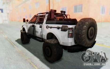 Toyota Hilux Technical MNU para GTA San Andreas traseira esquerda vista