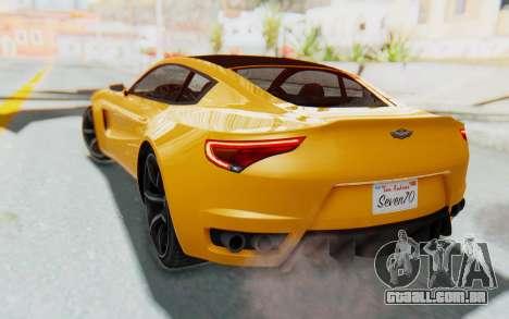 GTA 5 Dewbauchee Seven 70 IVF para GTA San Andreas traseira esquerda vista